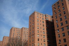 Public Housing. In downtown Manhattan royalty free stock photos