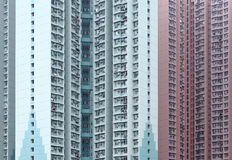 Public housing building Stock Photo