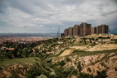 Public Housing Constructions. Made in the suburbs of a city Stock Photo