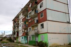 Public Housing in Decay, Cuba Royalty Free Stock Photo