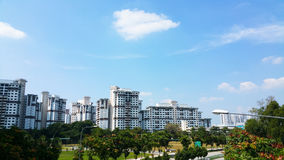 Public Housing Estate in Jurong East, Singapore Royalty Free Stock Photo