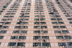 Public housing in Hong Kong. Large population of people in Hong Kong are still living in public houses built by government. This is one of the example which was royalty free stock photography