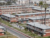 Public Housing Project. City owned public housing project in the western United States Royalty Free Stock Photos