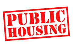 PUBLIC HOUSING. Red Rubber Stamp over a white background Royalty Free Stock Photos