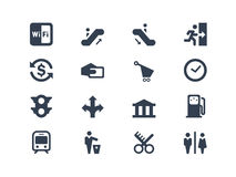 Public icons Royalty Free Stock Images