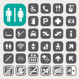 Public icons set Royalty Free Stock Photos
