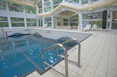 Public indoor swimming pool Royalty Free Stock Photo