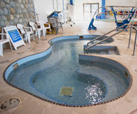 Public indoor whirlpool Stock Photo