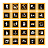 Public Info Pictograms Inverse Royalty Free Stock Image