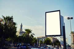 Public information board in the big town Royalty Free Stock Images