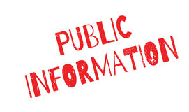 Public Information rubber stamp Stock Photos