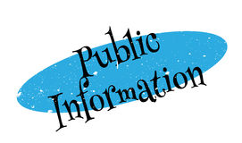 Public Information rubber stamp Stock Images