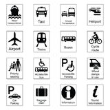 Public Information Signs. Collection 1 Transport Stock Illustration