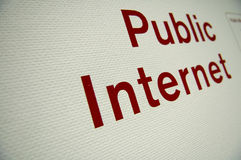 Public internet Royalty Free Stock Photo