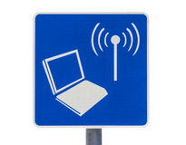Public Internet Service Road Sign Isolated Royalty Free Stock Photo