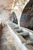 Public laundry. The 16th century medieval public laundry in Krasi, Crete Island, Greece Royalty Free Stock Photo