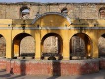 Public laundry fountain at Antigua, Guatemala Stock Photo