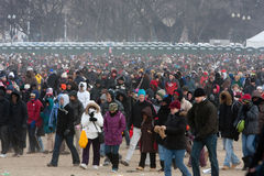 Public Leaving the Mall Stock Photo