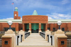 Public Library. With modern brick architecture Stock Photo