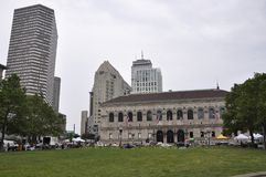 Boston Ma,30th June: Public Library in Copley Square from Boston in Massachusettes State of USA Royalty Free Stock Photos