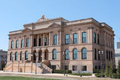 Public Library-Des Moines Iowa. Exterior of public library building in downtown Des Moines Royalty Free Stock Images