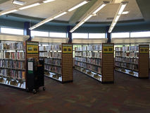 Public library interior. A public library in Carrolton ,TX USA Stock Photo