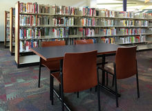 A public library interior Royalty Free Stock Photo