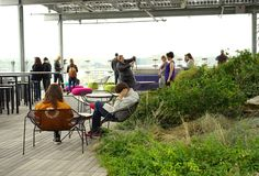 Rooftop public garden great for socializing Stock Photography