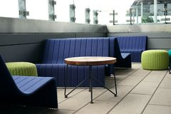 Solid banquette seating goes public Royalty Free Stock Photography