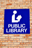 Public library symbol. Stock Images