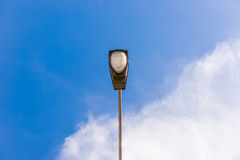 Public lightning system, street lamp in blue sky Stock Images