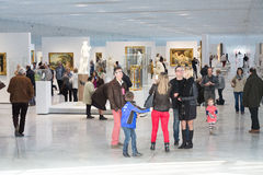 Public in the Louvre Lens Royalty Free Stock Photo