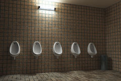 Public man toilet Royalty Free Stock Photos