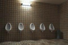 Public man toilet. Empty public man toilet, 3d Royalty Free Stock Photos