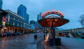 The Public Market Center also known worldwide as Pike Place Market, Seattle landmark royalty free stock image