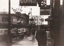 Public Market Center in downtown Seattle, 1982, USA Stock Images