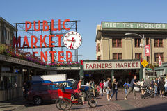 Public Market Center at Pike Place Stock Photo