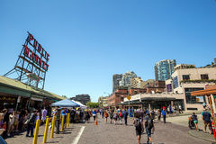 The Public Market Center Seattle Royalty Free Stock Photography