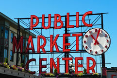 Public Market Center in Seattle Washington Stock Photo