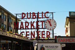 Public Market Center in Seattle Washington Royalty Free Stock Photography