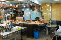 The public market Mercat de Santa Caterina Barcelona Stock Photo