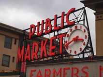 Public Market Sign Royalty Free Stock Photos