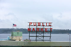 Public Market sign at Seattle fish markets Stock Photography