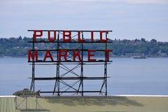 Public Market. Sign in Seattle, Washington Royalty Free Stock Photos