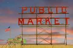 Public Market Sign Stock Images