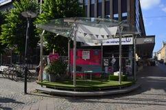 Public Meeting Space in Växjö, Sweden. Public Meeting Space in pedestrian street of Växjö, Sweden royalty free stock photos