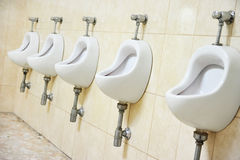 Public men's toilet Royalty Free Stock Images