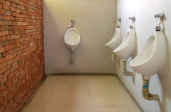 Public men toilet room Royalty Free Stock Images