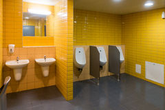 Public modern wc men`s room Royalty Free Stock Images