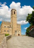Public monument of Poppi Castle in Tuscany Stock Photography